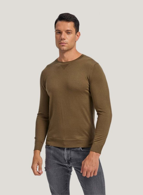 Worsted Cashmere CrewNeckSweater
