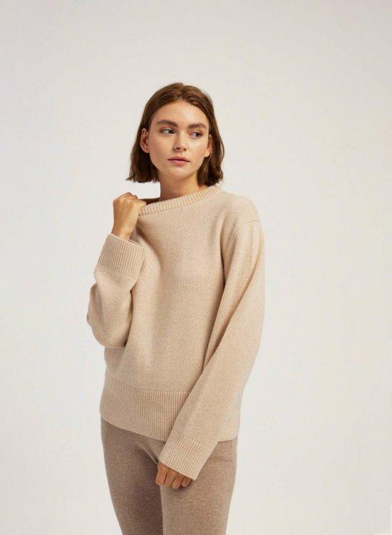 Designed Crew Neck Sweater
