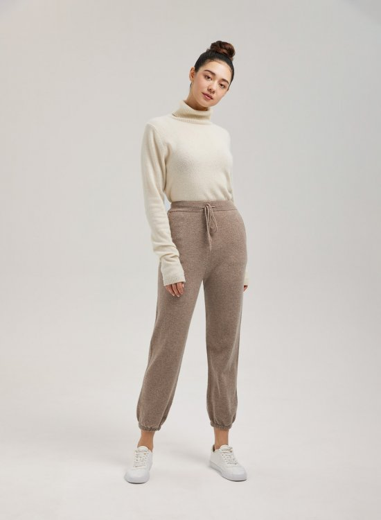 High-Waisted Wool Joggers