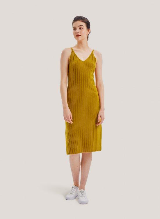Ribbed Cashmere Vest Dress