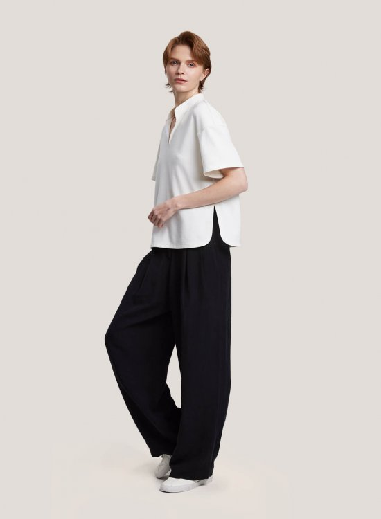 Relaxed Wide-Leg Pants