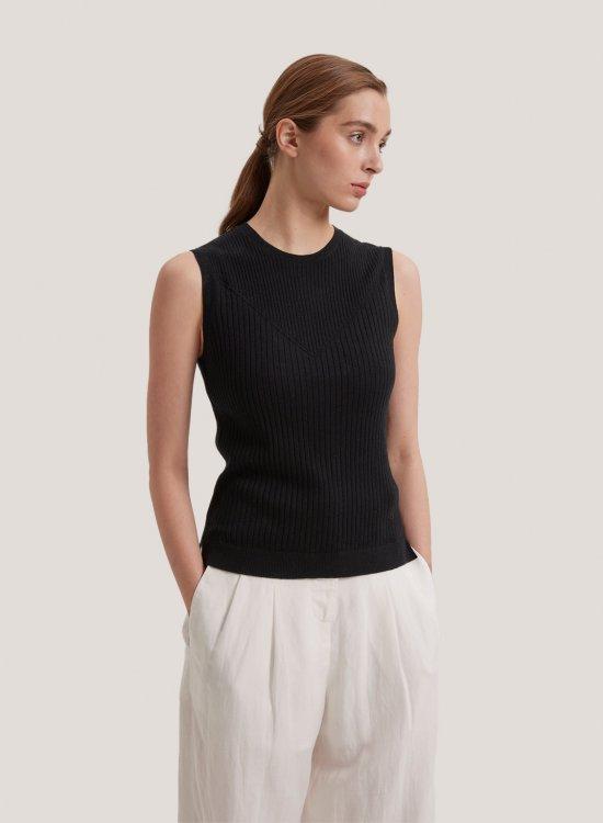 Ribbed Silk Cashmere Vest