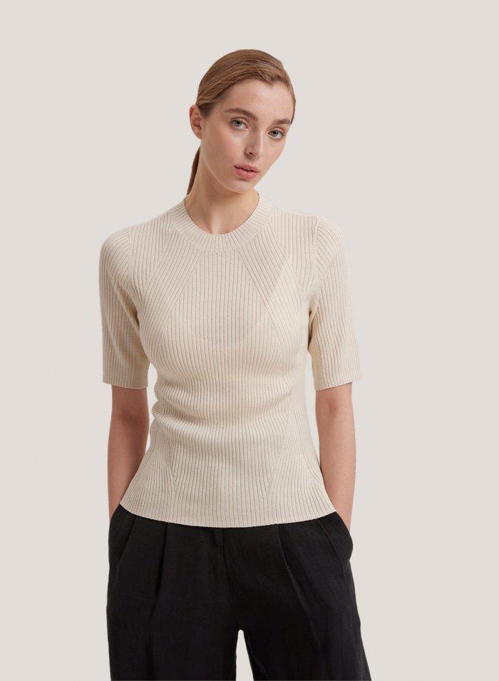 Crew-Neck Silk Cashmere T-Shirt