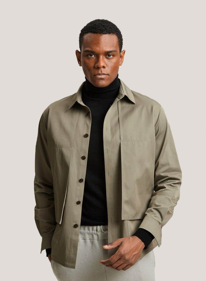 Short Workwear Jacket In Cotton