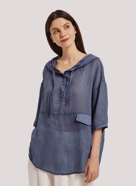 Linen Pullover Hoodie