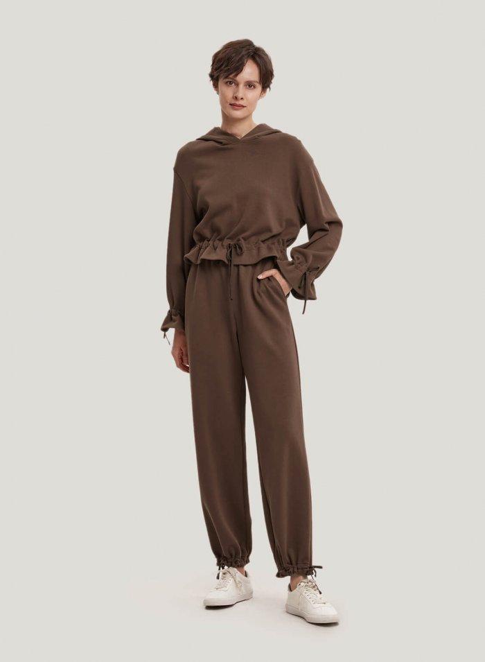 100% Cotton High Waist Jogging Pants